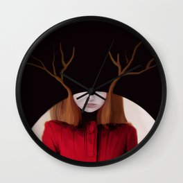 the tangled trees of louise Wall Clock