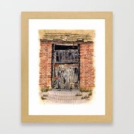 Stable Door Outside Framed Art Print