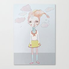 Cotton Candy Head in the Clouds Canvas Print