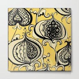 Funky Floral Pattern Metal Print