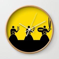 WTF? Peluqueria! Wall Clock