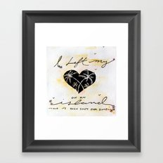 Heart island Framed Art Print