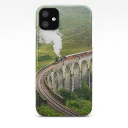 Hogwart Express steam engine in the scottish highlands iPhone Case