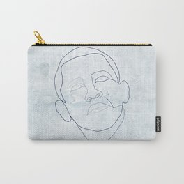 Barack Obama one-line drawing Carry-All Pouch