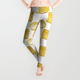 Savoury Biscuits Polka Dot Pattern Leggings