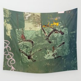 Urban Abstract in Green Wall Tapestry