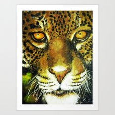 Wildlife Animal Painting - Jaguar Art Print