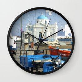 Mykonos Puzzle Wall Clock