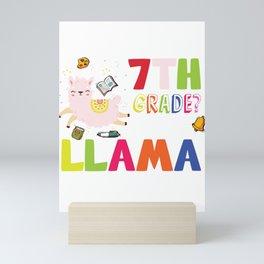7th grade No Prob Llama Cute Back to school Mini Art Print