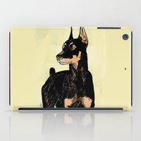 doberman iPad Cases featuring Doberman by Cassandra Jean