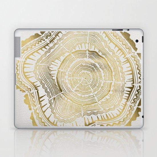 Gold Tree Rings Laptop & iPad Skin