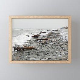 Driftwood Beach after the Storm Framed Mini Art Print