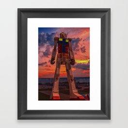 gundam for kids Framed Art Print