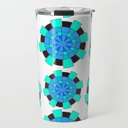abstract green and blue cloves Travel Mug