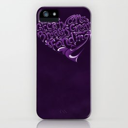 Breast Cancer Awareness Heart iPhone Case