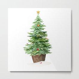Trimming The Tree Metal Print