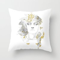 korra Throw Pillows featuring Korra II by lavaniteuse