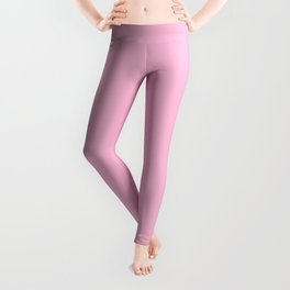 From The Crayon Box – Cotton Candy Pink - Pastel Pink Solid Color Leggings