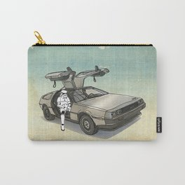 Stormtrooper in a DeLorean - waiting for the car club Carry-All Pouch