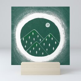 Green Mountains Mini Art Print