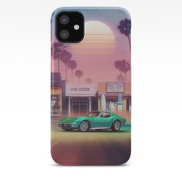 Synthwave Sunset Drive iPhone Case