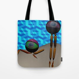 Two Eyes on an Island Tote Bag