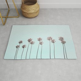 Pink Light Paradiese Beach Palm Trees Rug