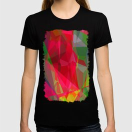 Pink Roses in Anzures 6 Abstract Polygons 3 T-shirt