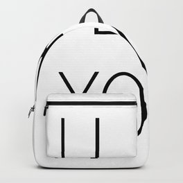 i like yoga Backpack