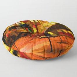 Midnight Carousel Ride Floor Pillow