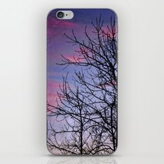 Winter Silhoutte Candy Pink Clouds iPhone Skin
