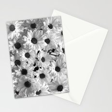 Daisy Chaos in Black and White Stationery Cards