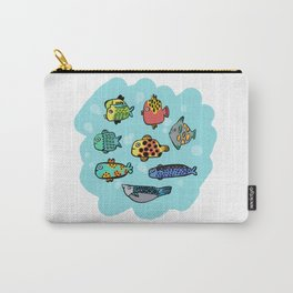Fish Portrait in Sea Carry-All Pouch