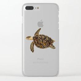 Hawksbill sea turtle (Eretmochelys imbricata) Clear iPhone Case