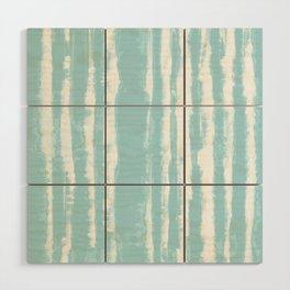 Shibori Stripe Seafoam Wood Wall Art