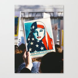 We the People - Women's March London Canvas Print