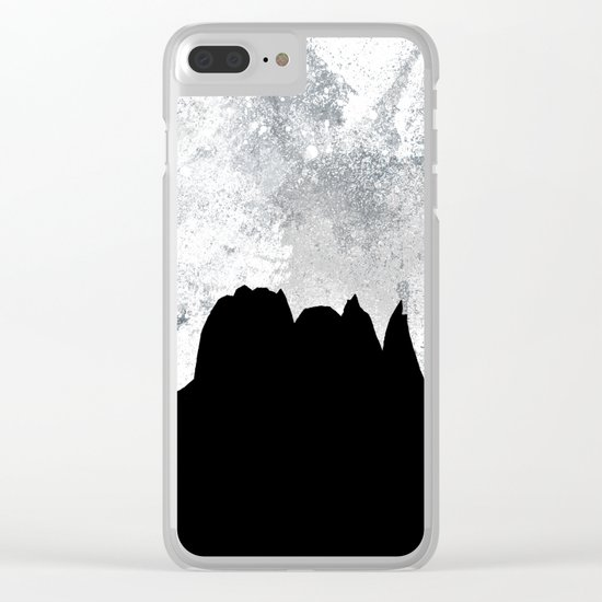 Midnight Moon Clear iPhone Case