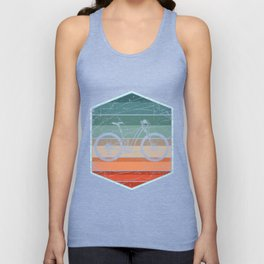 Retro Bicycle Unisex Tank Top