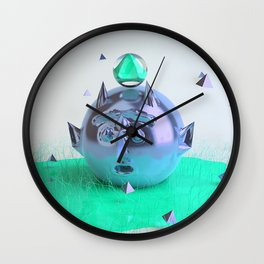 Green Devil Wall Clock