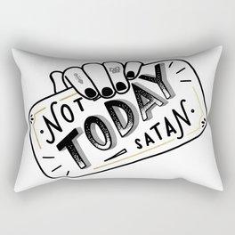 Not Today, Satan Rectangular Pillow