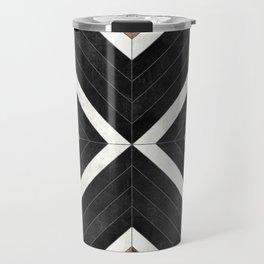 Urban Tribal Pattern No.1 - Concrete and Wood Travel Mug