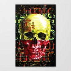 digital Skull (flag of spain) Canvas Print