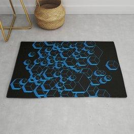 3D Futuristic Cubes Rug
