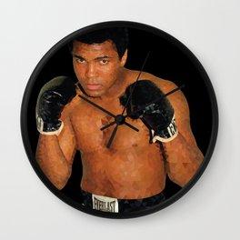 Historical Figures - Muhammad, Athlete Wall Clock
