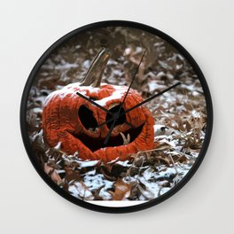 Halloween is Over Wall Clock