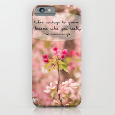 courage in growth - ee cummings iPhone 6s Slim Case