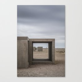 Donald Judd's Box Sculptures at The Foundation in Marfa, Texas Canvas Print