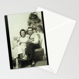 Merry Christmas from us to you, from past to present Stationery Cards