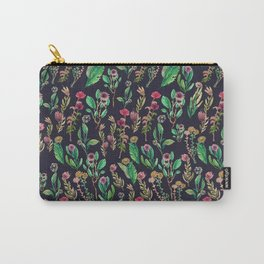black flowers wave Carry-All Pouch