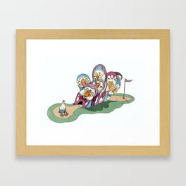 Mother Goose's Seven Holes  Framed Art Print